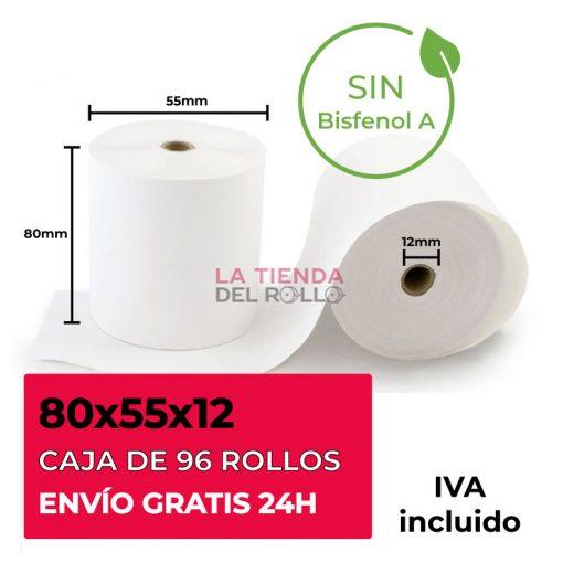 Rollo térmico 80x55 sin bisfenol A