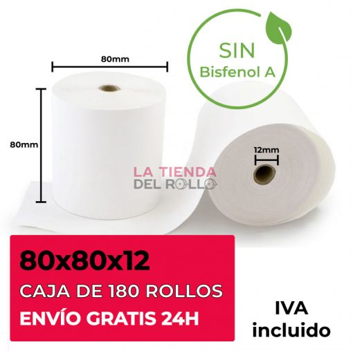 Rollo termíco 80x80 sin bisfenol A